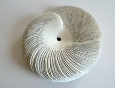all things paper: Seashell Book Sculptures by Rosie Miller Folded Book Art, Paper Book, Paper Art, Cut Paper, Old Book Crafts, Book Page Crafts, Altered Books, Altered Art, Ouroboros