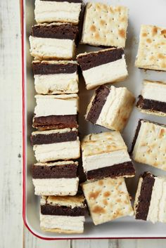 Saltine Cracker-Brownie Ice Cream Sandwiches | Joy the Baker