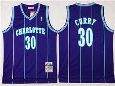 55d3c1d67b2 Charlotte Hornets #30 Dell Curry Purple Hardwood Classic Jersey Basketball  Goals, Basketball Jersey,