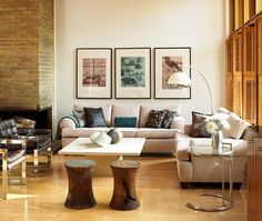 Eco-Friendly Living Room - Reclaimed and recycled furniture looks chic. #living_room