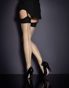 Back seam nylons- I do have a few pair of these as well as a great pair that are vintage flower patterned that I can bring