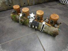 Adventskranz - Fries 50cm, Adventskranz, Rinde, braun - ein Designerstück von Gerhardt-Blumen bei DaWanda