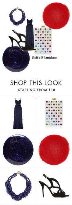 """""""bold rainbow"""" by alisafranklin on Polyvore featuring Adrianna Papell, Edie Parker, Lauren B. Beauty, Christian Louboutin, BaubleBar, Sophia Webster and statementnecklaces"""