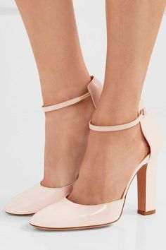 3f767ec87e9d Gianvito Rossi - Patent-leather pumps. Ankle Strap High HeelsPink ...