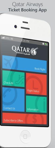 Qatar Airways Ticket Booking App by Amol Hadkar