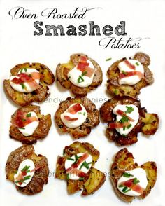 Oven roasted Smashed Potatoes!  These are delicious!