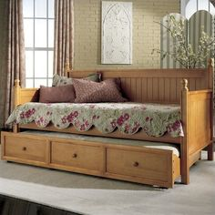 Fashion Bed Casey Wood Daybed in Honey Maple