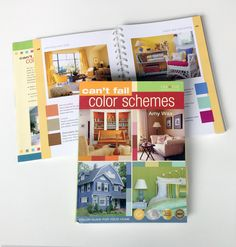 Can't Fail Color Schemes: Author: Amy Wax Publisher: Creative Homeowner A take it with you guide, to help you select colors for your home! #amywax