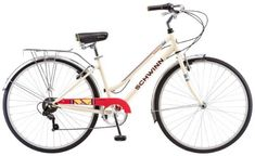 Product review for Schwinn Women's Wayfarer 700c Bicycle, Cream - The Schwinn Wayfarer 700c Women's Hybrid bicycle is the perfect bike for cruising the neighborhood, bike path or just going out for a leisurely ride. Equipped with a Schwinn steel retro city frame and fork offers a stylish and upright riding position, Shimano 7 speed rear derailleur with...