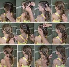 Viking Braid Tutorial - Hairstyles How To Pulled Back Hairstyles, Dance Hairstyles, Workout Hairstyles, Little Girl Hairstyles, Ponytail Hairstyles, Cool Hairstyles, Viking Braids, Viking Hair, Braids For Thin Hair