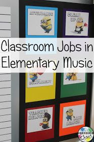 Organized Chaos: Teacher Tuesday: classroom jobs in elementary music. How to incorporate class jobs into the music room to give students more ownership and respect for the classroom and give them the opportunity to practice cooperation and responsibility. Music Lesson Plans, Music Lessons, Singing Lessons, Singing Tips, Piano Lessons, Classroom Jobs, Classroom Management, Behavior Management, Classroom Organization