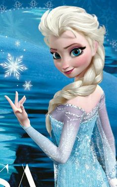Day 02 Disney Challenge (Favorite Princess) : Elsa - Frozen (she is queen and princess in same time in the movie)