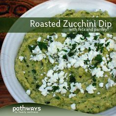 Roasted Zucchini Dip with Feta and Parsley | http://recipes.pathwaystofamilywellness.org/archives/946