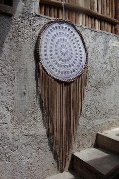 100% real suede leather and crochet dream catchers, made in Mexico by DreamsMexico on Etsy https://www.etsy.com/uk/listing/522704698/100-real-suede-leather-and-crochet-dream