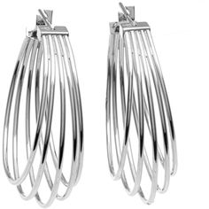 Calvin Klein Stainless Steel Hoop Earrings (1 650 UAH) ❤ liked on Polyvore featuring jewelry, earrings, stainless steel, clasp earrings, stainless steel hoop earrings, stainless steel jewelry, long earrings and hoop earrings