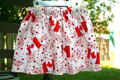 Gathered skirt for Canada Day #sewing