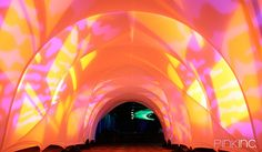 DirecTv Flexi Tunnels | Gallery | Pink Inc. Creative Fabric Solutions