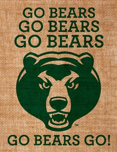 Baylor University burlap wall art Go Bears by BurlapByEverAfter, $30.00