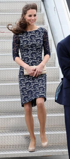 Kate Middleton.  My graduation outfit is VERY similar to this. Perfect.