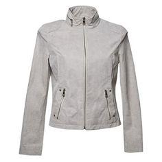 Prezzi e Sconti: #Giacca di pelle con cerniera sul colletto Bianco  ad Euro 49.99 in #Bata #Abbigliamento donna