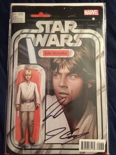 My Star Wars comic book signed by Jason Aaron and John Cassaday.