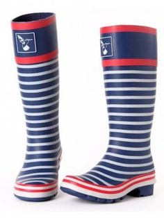 Evercreatures In The Navy Welly Blue Stripe
