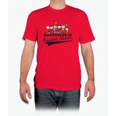 The Peanuts Gang Baseball Charlie Brown - Men T-Shirt