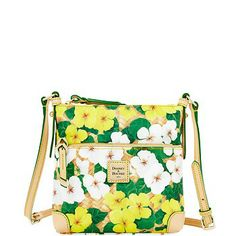 Dooney & Bourke: Pansy Letter Carrier in Yellow.