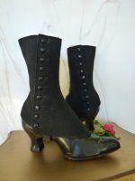 antike Schuhe, antike Stiefel, antike Knöpfstiefel, Schuhe 1900, antieke schoenen, bottines 1900, stivaletti 1900, antikes Kleid, Mode um 1900, Kostüm 1900, victorianische Schuhe, antike Schoner, antike Schuh-Schoner