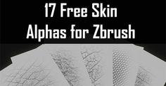 Free Skins Alphas for Zbrush by Seba Dom Seba Dom shared 17 free Skin alphas for zbrush using like H