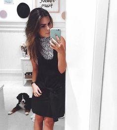 black and white, pattern, tied, dress, new collection, dog, bernesse, berne mountain dog, preto e branco, vestido jardineira amarrado, estampa, clock, cluse