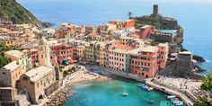 Who wants to escape to Cinque Terre, Italy? (via Vernazza Village& Daily Escape& Travel Channel) Vacation Places, Vacation Destinations, Dream Vacations, Places To Travel, Places To See, Riomaggiore, Shore Excursions, Travel Channel, Beach Hotels