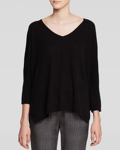 C by Bloomingdale's Boxy Cashmere Sweater | Bloomingdale's in black