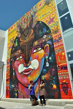Chilean Street Art by Charquipunk 3d Street Art, Urban Street Art, Murals Street Art, Amazing Street Art, Street Artists, Graffiti 3d, Graffiti Artwork, Art Mural, Street Art Graffiti