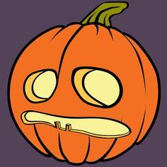Coloriage Citrouille d'Halloween qui a peur a imprimer