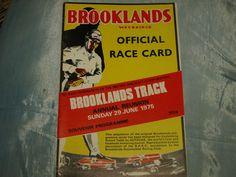 BROOKLANDS SOCIETY PROGRAMME 1975 REUNION SALMSON SUNBEAM KAY DON WOLSELEY VIPER Jochen Rindt, Viper, Formula 1, No Response, Racing, Notes, Ebay, Souvenir, Program Management
