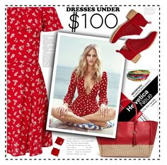 """""""Under $100: Summer Dresses"""" by cindy88 ❤ liked on Polyvore featuring Miss Selfridge, Jeffrey Campbell and under100"""