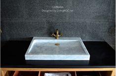 27-Inch White Marble bathroom Vessel Sink - CARRARA