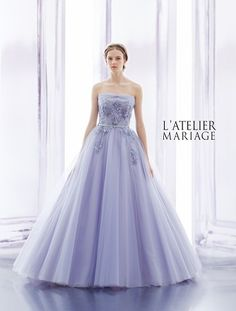 This color is a bit more blue than I'd like, but the silhouette is nice and the bodice details are pretty