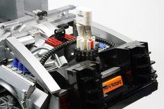 1:15 scale LEGO DeLorean from Back to the Future