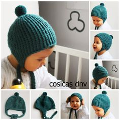 Gorro pto dori pp Knitting For Kids, Baby Knitting, Diy Crochet, Crochet Baby, Knitting Patterns, Crochet Patterns, Little King, Best Baby Gifts, Kids Hats