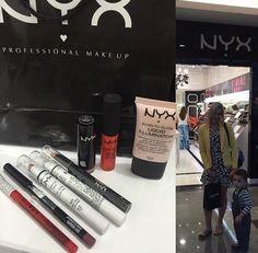 Comprinhas da blogueira @penteadeiraecloset na loja da NYX do Brasília Shopping