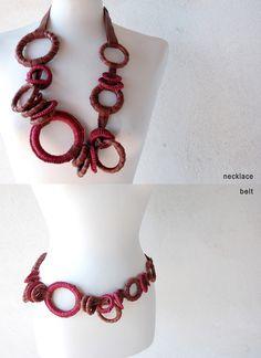 """Anna Maria Cardillo, coll """"zero1"""" - necklace/belt"""