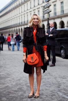 a1405786caca Leopard Print Flats, Orange Bag, Orange Brown, Blood Orange, Blazer Fashion