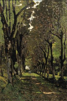 Path in the Park at Tremellérie, Henri Joseph Harpignies. French (1819 - 1919)