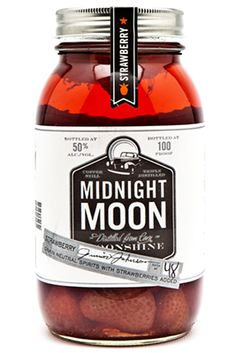 Midnight Moon Strawberry Moonshine.  Mix with cream soda.