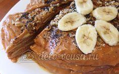 Рецепт приготовления блинного торта со сгущенкой и бананами иллюстрированный детальными поэтапными фотографиями