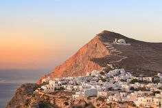 Check out Folegandros at sunset. by jcfmorata - Photography on Creative Market