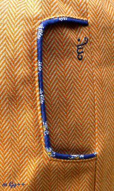 Jupe portefeuille en jersey (Patron maison) par m Gg++ : poches découpées soulignées d'un passepoil