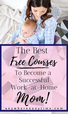These are hands-down the best free courses and resources available for Moms who want to become an entrepreneur from home while raising their family. Joining the work-at-home mom revolution has never been easier! Work From Home Business, Work From Home Moms, Starting A Business, Make Money From Home, Way To Make Money, Business Tips, Make Money Online, Online Business, Business Essentials